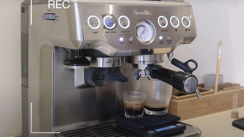 Barista Express Brewing Coffee