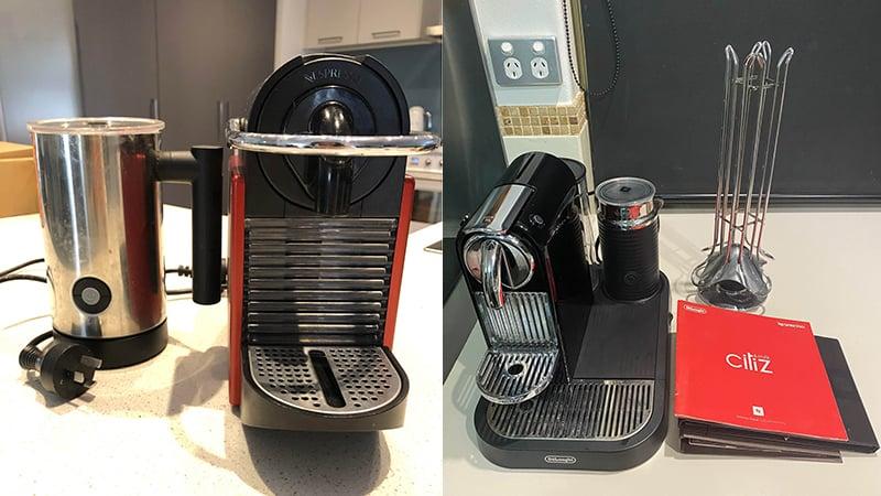 Comparison Water Tank Size Between DeLonghi Nespresso Pixie vs Citiz