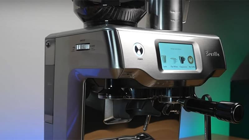 Touch Screen Display Of Breville Barista Touch