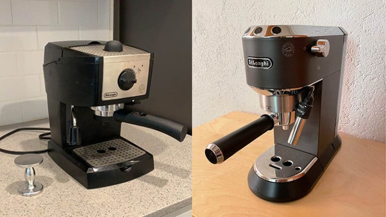 Delonghi EC155 vs EC685M Comparison Review Espresso Makers