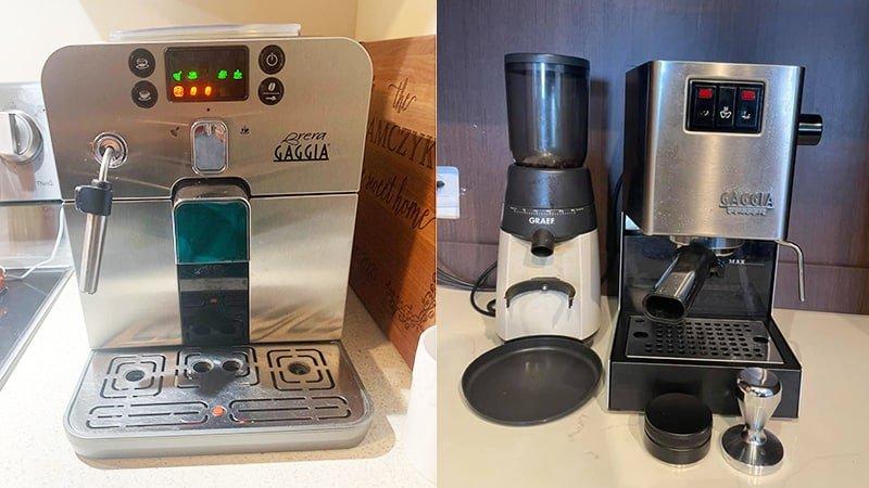 Design Comparison Between Gaggia Brera vs Classic