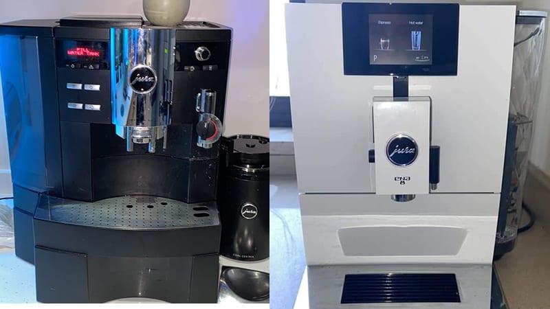 Design Comparison Between Jura A1 vs Ena 8