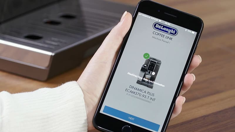 De'Longhi Dinamica Plus ECAM370.85.SB can be operated remotely through an app