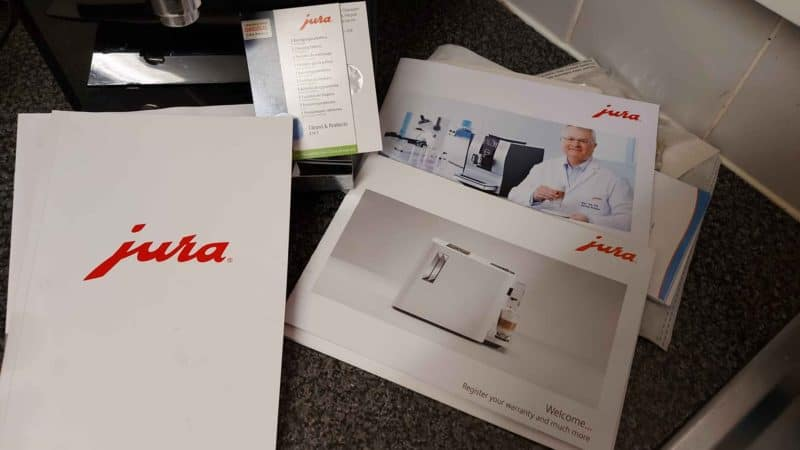 Jura A1 Cleaning document