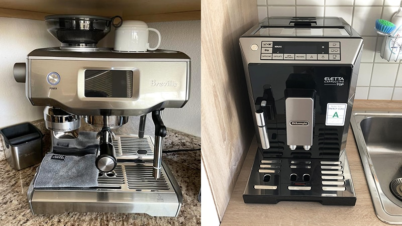 Breville Oracle Touch vs Delonghi Eletta: 7 Key Differences
