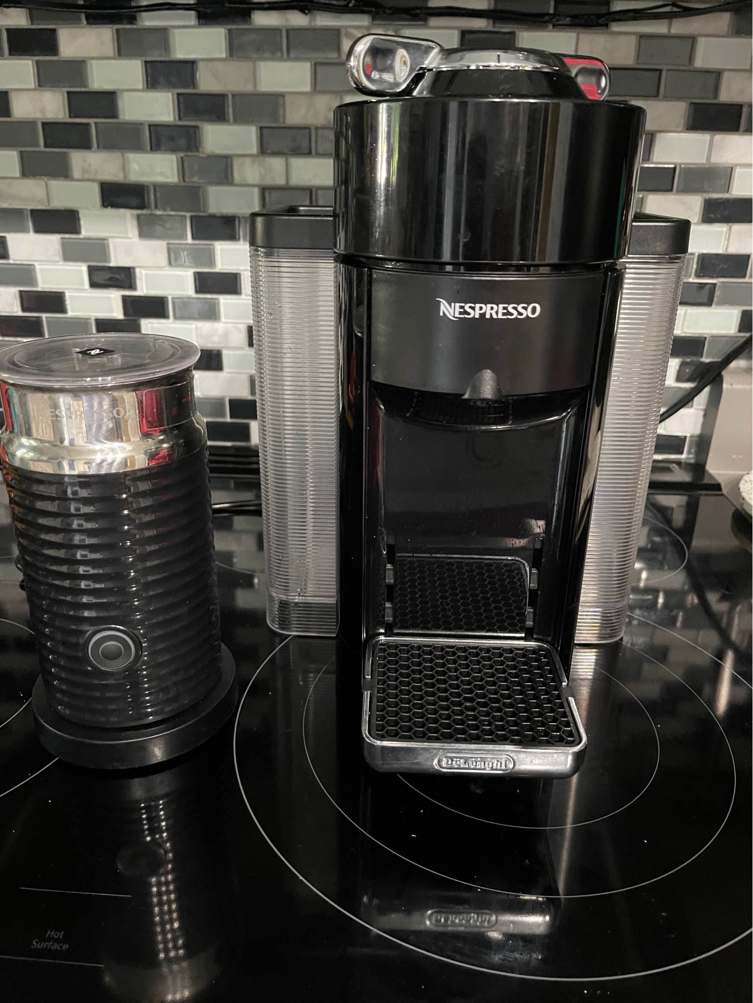 Delonghi Nespresso Vertuo is equipped with a flow-stop system
