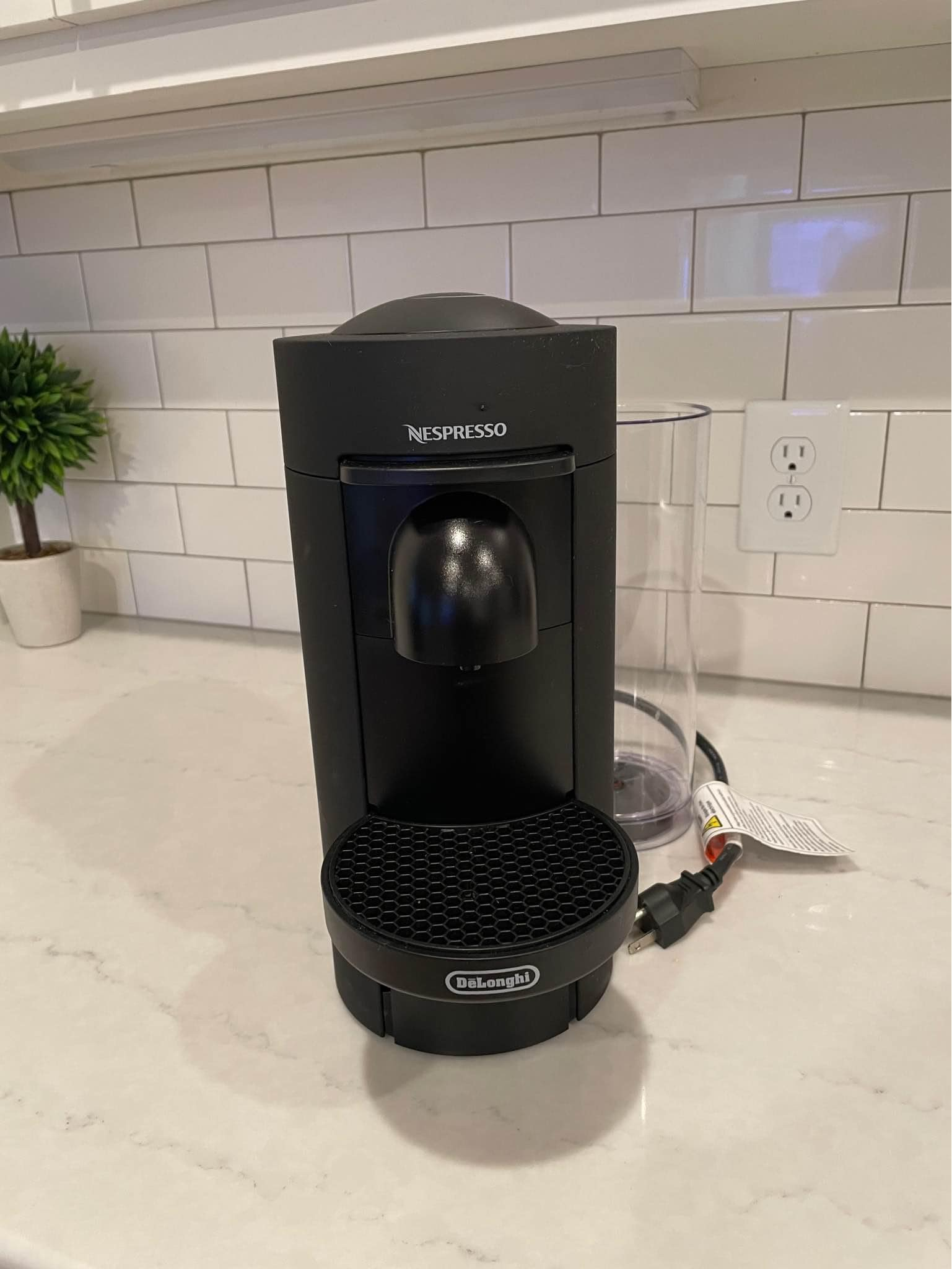 Delonghi Nespresso Vertuo Plus is narrower and more lightweight