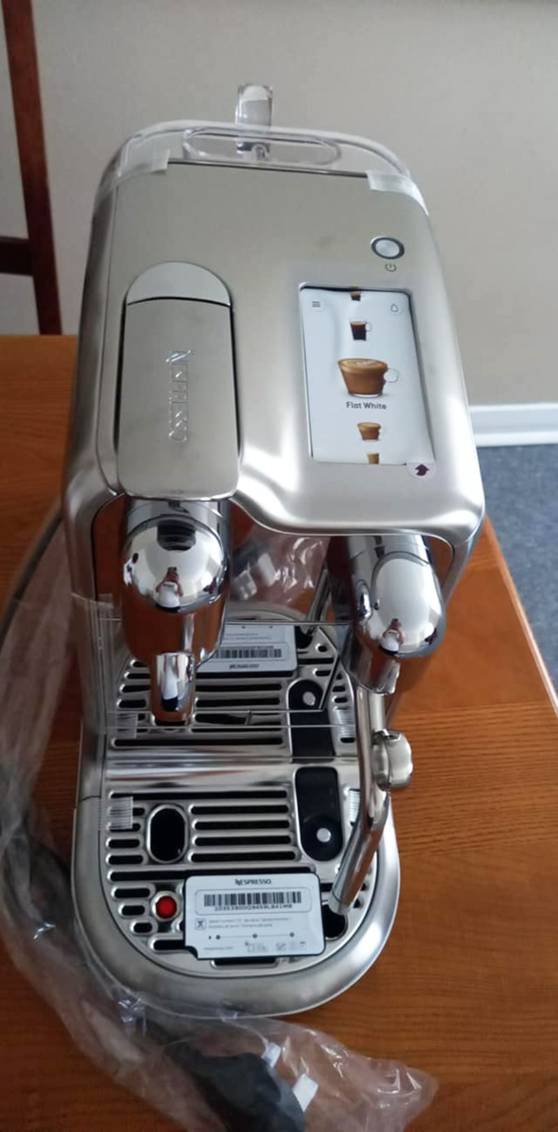 Nespresso Creatista One Touch Buttons