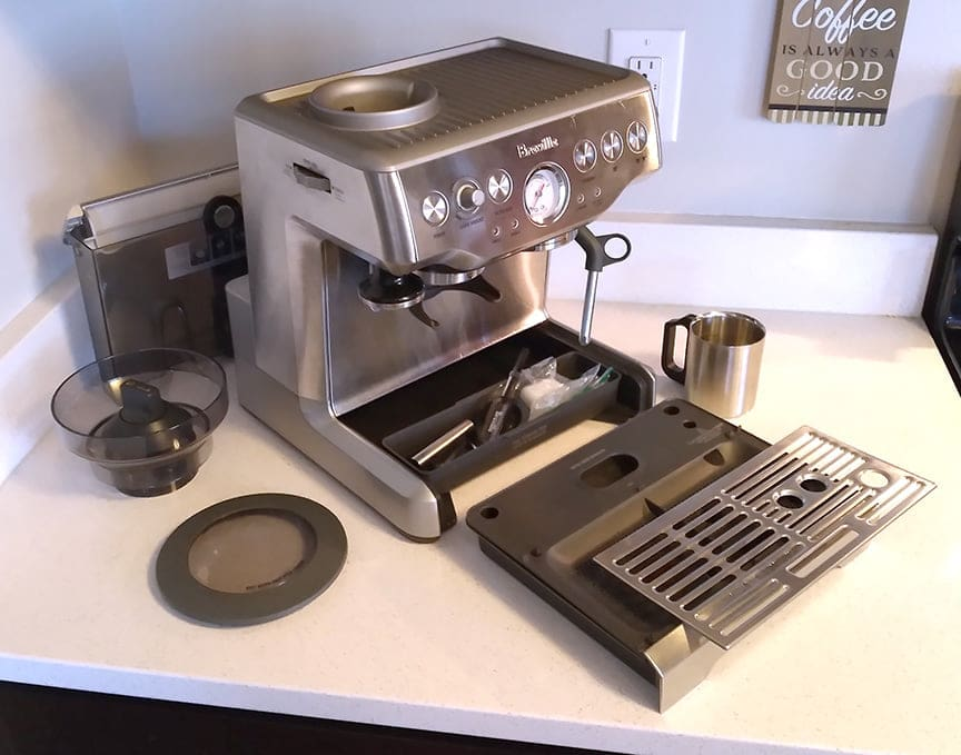 Removable parts of Barista Express