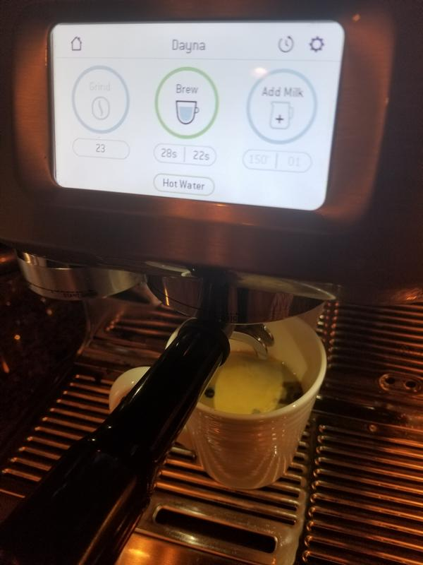 Touch screen of Breville Oracle Touch